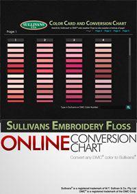 Sullivans Online Color Card and Conversion Chart