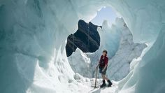 At Franz Josef Glacier and Fox Glacier on the West Coast of New Zealand, the ice age is still underway.