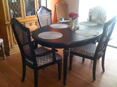 ideas to refinish oval table - Google Search