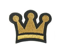 crown Gold -wappen patch Country of Origin : korea size : 5.7 x 4.6 (cm) Color : Gold