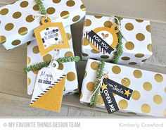 Gift Tag Greetings, Tag Builder Blueprints 4 Die-namics - Kimberly Crawford  #mftstamps