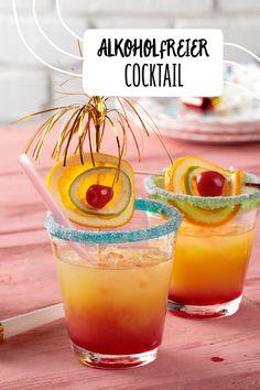 Alkoholfreier Cocktail für Kinder #kindergeburtstag #mocktail #orangensaft #ananassaft Obst Früchte Saft Mocktail Kindergeburtstag