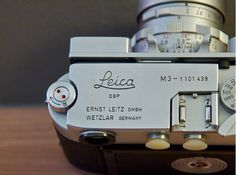 Leica M3 - I learned to take pictures on a camera like this.  In our digital age, kids won't know how much a camera like this meant to photographers.