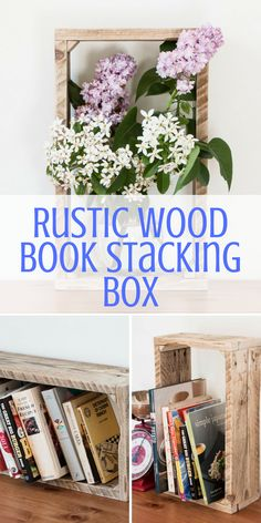 Rustic Wood Book Stacking Box. These brilliant wooden handcrafted stacking boxes add a gorgeous rustic look to any room. || Etsy || Bedroom ideas, Bedroom ideas Master, Bedroom ideas For women, Bedroom ideas Grey, Bedroom ideas For couples, Bedroom decor, Bedroom decor For couples, Bedroom decor Ideas, Bedroom decor Master, Bedroom decor grey, Home decor, Home decor Ideas, Home, Home ideas, Home design, Home design inspiration, Rustic home decor Bedroom