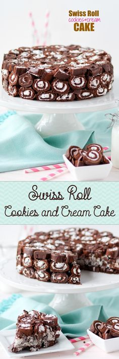 Swiss Roll Cookies and Cream Cake -- no bake and GORGEOUS!!!