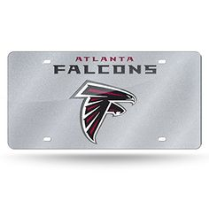 NFL Atlanta Falcons Bling Laser Cut Auto Tag Plate, 12 x 6-Inch, Silver  http://allstarsportsfan.com/product/rico-nfl-bling-laser-cut-auto-tag-plate-12-x-6-inch-silver/?attribute_pa_teamname=atlanta-falcons  Pre-drilled holes for easy mounting Measures 12-Inch by 6-Inch High quality metal