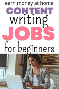 Get content writing jobs for beginners at home. Learn to earn money at home with these freelance writing jobs. Online Writing Jobs, Freelance Writing Jobs, Business Checks, Business Tips, Easy Online Jobs, Career Ideas, Business Motivational Quotes, Creative Jobs, Earn Money From Home
