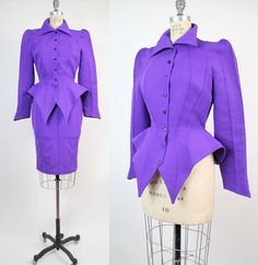 Vintage THIERRY MUGLER Tailored Jacket and Skirt by VerseauVintage, $ 1920.00