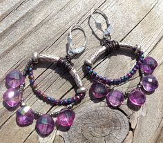 Lavender Topaz Hill Tribe Silver Antique French Cut by rocksnbeads