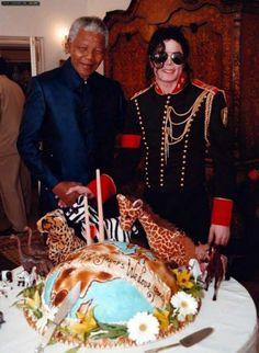 Michael e Nelson Mandela