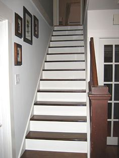 Someday soon, I would like my upstairs and basement steps to look  look like this.  :-)