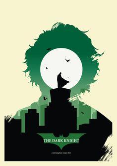 Batman series inspired by Olly Moss by Ryan Cornyn