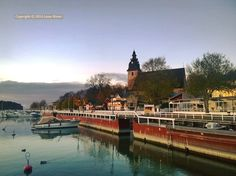 Naantali church and harbour