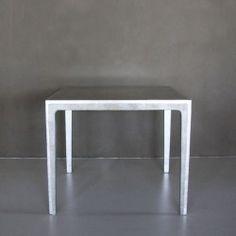 RUNNER SMALL table in polished eggshell DKE77 and silver leaf DKTC1106. #Cravt #DKhome #Craftsmanship #Living #Diningtables #furniture #Eggshell #Luxuryfurniture