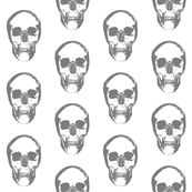 Grey Skulls by thinlinetextiles