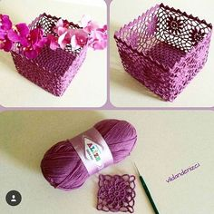 Best 11 How to Crochet a Solid Granny Square – SkillOfKing. Crochet Bowl, Crochet Basket Pattern, Love Crochet, Crochet Gifts, Crochet Motif, Crochet Doilies, Crochet Lace, Crochet Stitches, Crochet Patterns