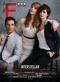 Matthew McConaughey, Jessica Chastain and Anne Hathaway cover F*** Magazine's INTERSTELLAR issue