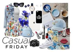 """""""moodboard 1"""" by firdha223 on Polyvore featuring Sony, Casetify, FOSSIL, Jeremy Scott, Alice + Olivia, Kevin Jewelers, Karen Walker, Nika, Chanel and Converse"""