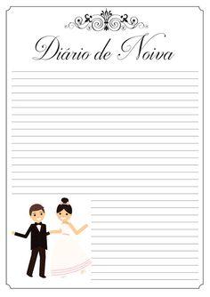 Diário de Noiva Grátis para Baixar - Cantinho do blog