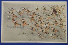 "1930's Japanese Postcards : Children Playing War ""Shou Kokumin"" ( = Japanese Children) kids cute art / vintage antique old Japanese military war art card / Japanese history historic paper material Japan - Japan War Art"
