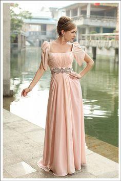 6554a118ea6 Pale Pink A-line Floor-length Cap-sleeve elegant short sleeve formal  evening. Evening Dresses ...