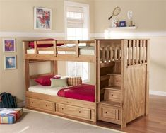 Bunk Bed with Stairs Plans - Love this bunk bed? See more at Toddlerbunkbeds.net