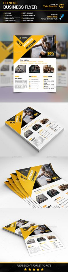 Fitness business flyer design.