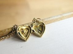 Personalized Locket Necklace Gold Plated by HandStampedbyJoanna, $12.00