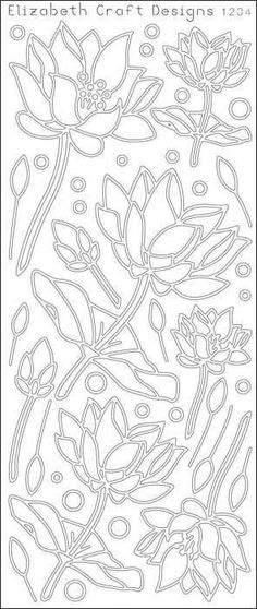ELIZABETH CRAFT DESIGNS-Peel Off Outline Stickers: Lotus Flowers. A great way to customize your craft and art projects! Use Peel... (see details) $1.99