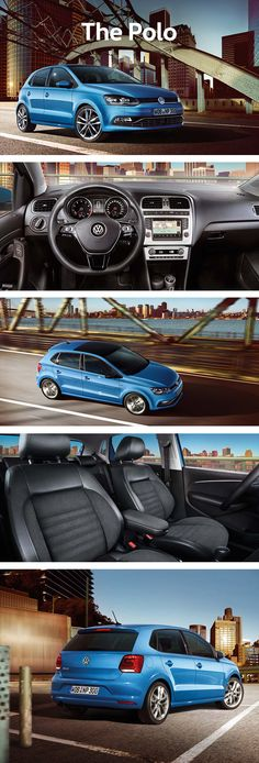 The Volkswagen Polo is a compact car that has been engineered with an advanced look and driving assistance systems. On the outside, the Polo gives a sporty impression with the slanted air intake, squared headlamps and optically extended front. On the inside, the assistance systems make for safe driving, such as the Multi Collision Brake. Following a collision and within the limits of the system, this system automatically applies the brakes if you yourself can no longer prevent a collision.