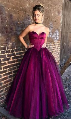Sweetheart Prom Gown,A Line Prom Dress,Cheap Prom Dress,Purple