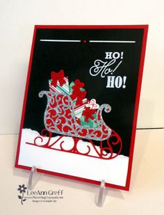 Santa S Sleigh With Presents Christmas Paper Crafts Stampin Up Tag Handmade