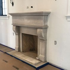 like how the fireplace mantle turned out. It's a limestone surround by Tracery Stone.Really like how the fireplace mantle turned out. It's a limestone surround by Tracery Stone. Brick Fireplace Mantles, Stone Mantle, Hearth Stone, Stacked Stone Fireplaces, Limestone Fireplace, Small Fireplace, Home Fireplace, Fireplace Ideas, Faux Stone Veneer
