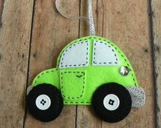 Personalized Felt Truck Christmas Ornament by PaisleyMoose on Etsy