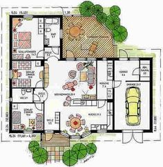 Bungalows, Architectural Floor Plans, Simple House, Fixer Upper, My Dream Home, Tiny House, Cute Babies, House Plans, Sweet Home