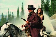 Clint Eastwood and Sydney Penny. Pale Rider (1985).