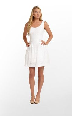 Posey Dress in Resort White Daisy Lane Lace $238 (w/o 2/16/13) #lillypulitzer #fashion #style