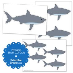 Printable Shark Cut Outs