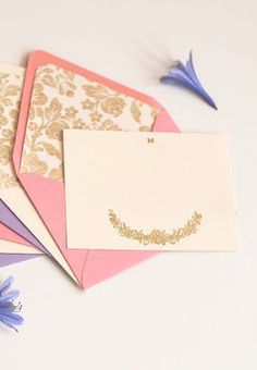 Personalized Stationery Set 6 Ivory Envelopes