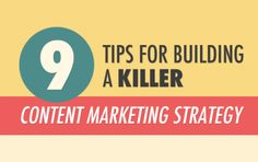 Most effective and sustainable way to grow traffic? earn leads? increase revenue? Content marketing! Here are some killer tips for building killer content marketing strategy.