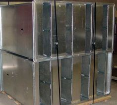 Group of Galvanized Rectangular Duct Silencer with Flanged Connections - dB Noise Reduction