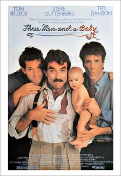 3 MEN AND A BABY: Directed by Leonard Nimoy. With Tom Selleck, Steve Guttenberg, Ted Danson, Nancy Travis. I haven't seen this in forever! Steve Guttenberg, 80s Movies, Comedy Movies, Great Movies, Movies To Watch, Tv Watch, Funny Comedy, See Movie, Movie List