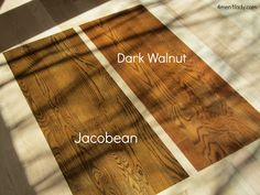 Ideas wood stain colors red dark walnut for 2019 Dark Walnut Floors, Walnut Hardwood Flooring, Red Oak Floors, Diy Wood Floors, Hickory Flooring, Painted Wood Floors, Dark Walnut Stain, Diy Flooring, Walnut Wood