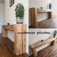 Faux Wood Beams, Old Barn Wood, Creation Deco, Reclaimed Wood Furniture, Industrial Furniture, Vintage Industrial, Reclaimed Wood Side Table, Modern Rustic Furniture, Rustic Console Tables