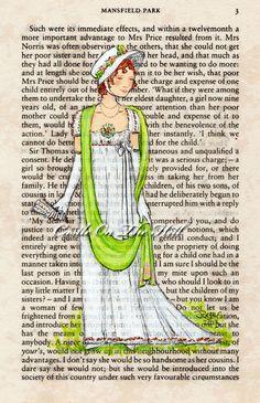 Jane Austen Couples Postcard Pack of 12 by Jess Purser — Kickstarter Jane Austen Book Club, Jane Austen Novels, Mansfield Park, Book Tree, Book Page Art, Painted Books, Pride And Prejudice, Altered Books, The Book