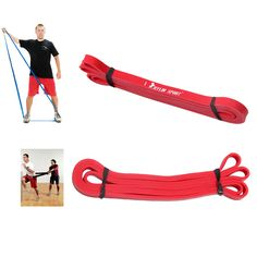 Latex Crossfit <font><b>resistance</b></font> <font><b>bands</b></font> fitness body gym power training powerlifting pull up red. >> See more by visiting the picture link