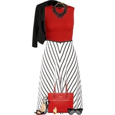 Chevron Stripe Skirt by stay-at-home-mom on Polyvore featuring Alice + Olivia, OPUS Fashion, Sonia Rykiel, Christian Louboutin, Oscar de la Renta, Kate Spade and Linda Farrow