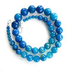 Blue Jade Necklace. $42.00, via Etsy.