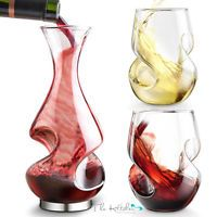 L'Grand Conundrum Aerating Wine Decanter, Red White Carafe & Glasses Bar Gift