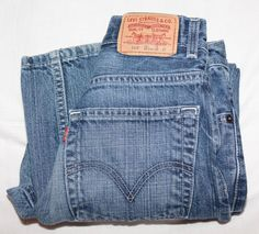 Vtg Levi's 569 Boy's Loose Straight Jeans Size 14 Slim (25/27) #Levis #569LooseStraight #Everyday #Jeans
